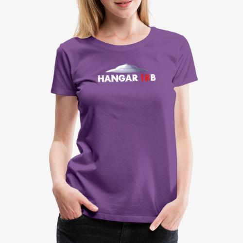UFO mit Hangar18b Schriftzug - Frauen Premium T-Shirt