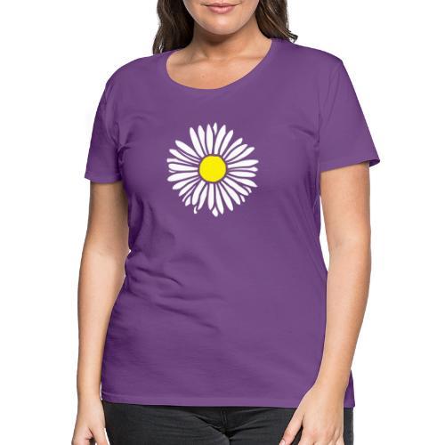 Gänseblümchen zweifarbig - Frauen Premium T-Shirt