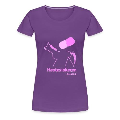 Hesteviskeren transparent rosa png - Premium T-skjorte for kvinner