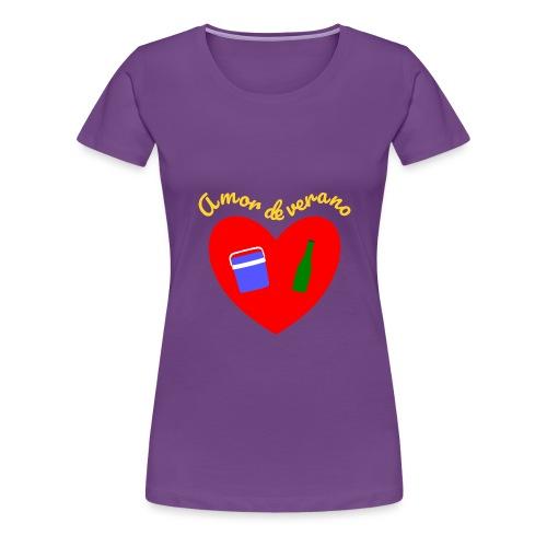 Amor de verano corazon - Camiseta premium mujer