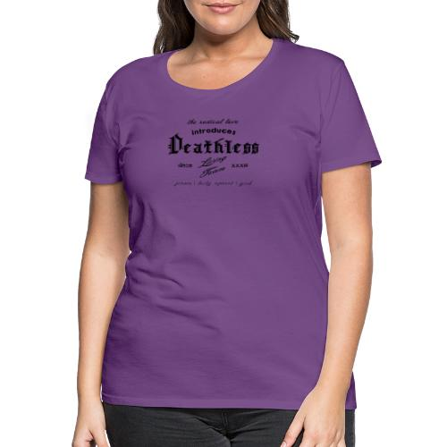 deathless living team schwarz - Frauen Premium T-Shirt