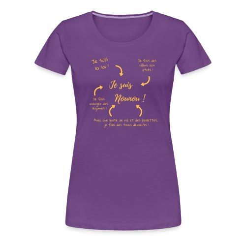 Je suis nounou clair - T-shirt Premium Femme