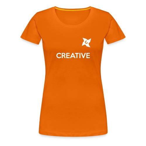 Creative long urban shirt - Dame premium T-shirt