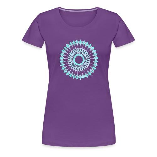 Ice Sunflower Mandala - Women's Premium T-Shirt