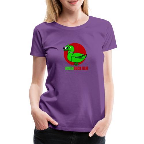 Greenduck Film Red Sun Logo - Dame premium T-shirt