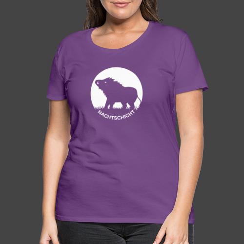 """""""Nachtschicht bei Schweinesonne""""-Shirt für Jäger - Frauen Premium T-Shirt"""
