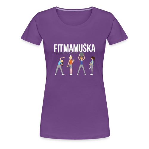 Fitmamuśka - Koszulka Czarna - Koszulka damska Premium