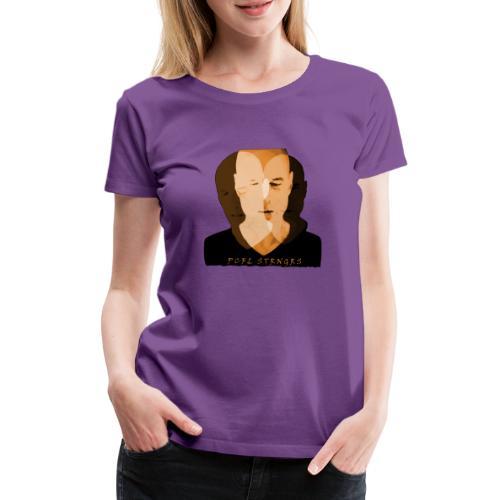 Front Man (orange) - Dame premium T-shirt