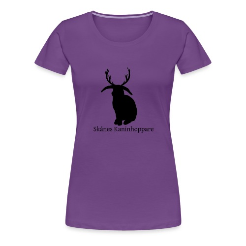 Herr t-shirt - Svart logga - Premium-T-shirt dam