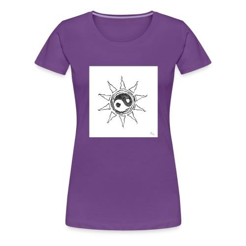 sole yin yang - Maglietta Premium da donna