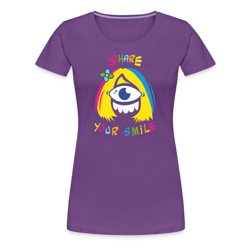 share your smile - T-shirt Premium Femme
