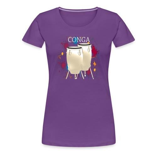 Congas Artistic Design Percussionist Und Drummer - Frauen Premium T-Shirt