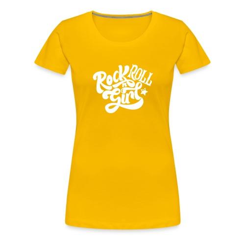 Rock n Roll Girl - Naisten premium t-paita