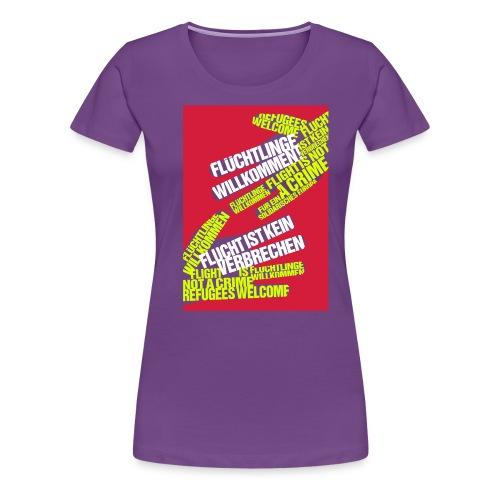 Flüchtlinge Willkommen r - Frauen Premium T-Shirt
