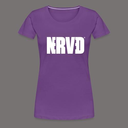 Official Nerved@ White Logotype - Women's Premium T-Shirt