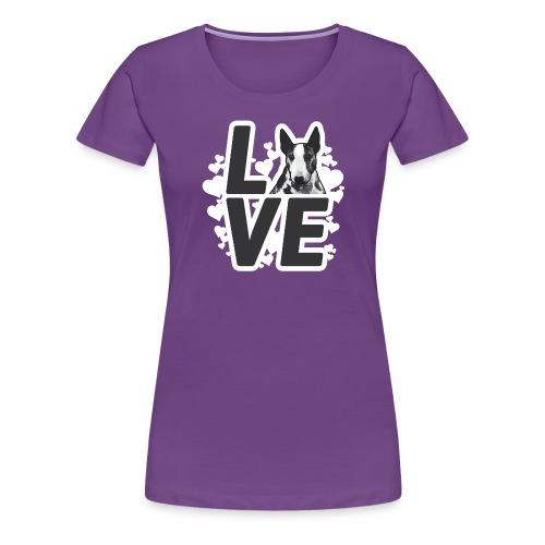 BULL TERRIER LOVE digital - Frauen Premium T-Shirt