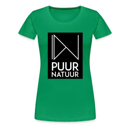 Logo puur natuur negatief - Vrouwen Premium T-shirt