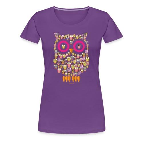 PÖLLÖPERHE OWL FAMILY - Funny textiles and Gifts - Naisten premium t-paita