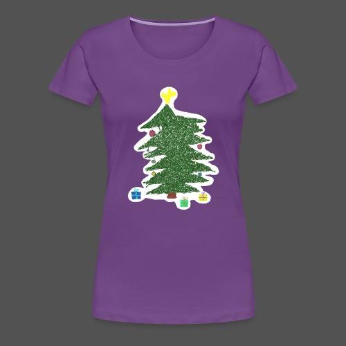 Christmas Kids-Drawing - Frauen Premium T-Shirt