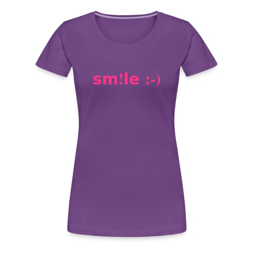 smile - sorridi - Maglietta Premium da donna