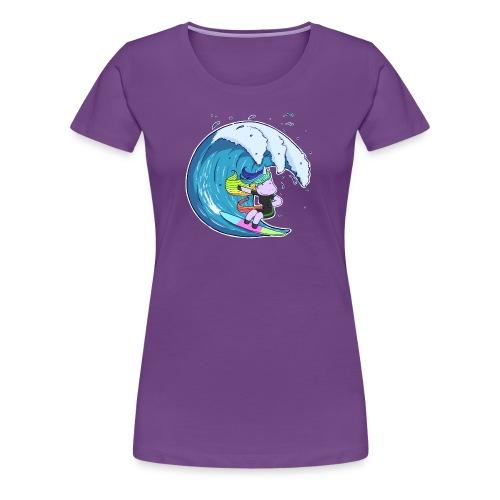 Surfing Unicorn - Women's Premium T-Shirt