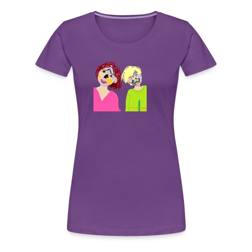 Thomz & Mishz tekening - Vrouwen Premium T-shirt