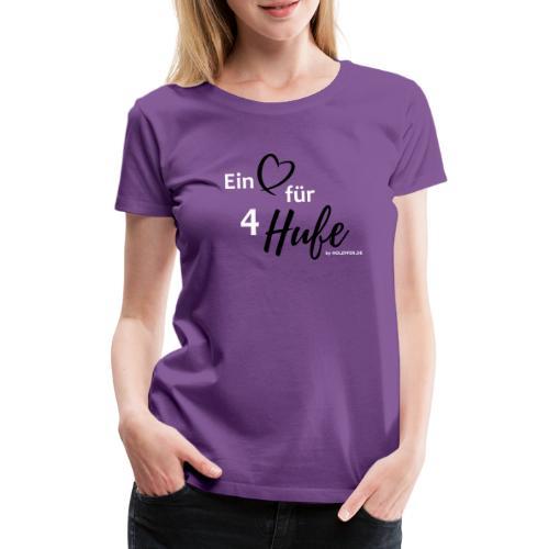 Ein Herz für 4 Hufe_Pfad - Frauen Premium T-Shirt