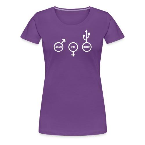 ROBOT NERD - T-shirt Premium Femme