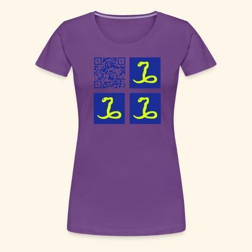 qr code flag martinique28 - T-shirt Premium Femme