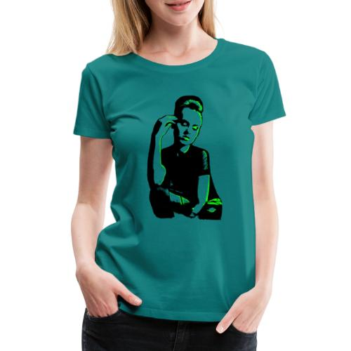 ATTITUDE (neon green) - Dame premium T-shirt