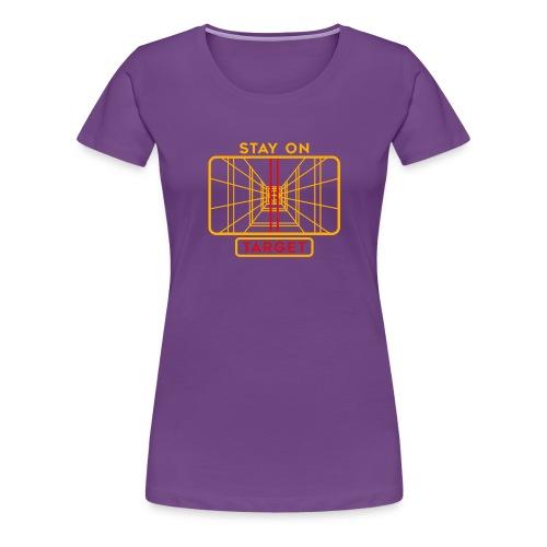 STAY ON TARGET 1977 TARGETING COMPUTER - Vrouwen Premium T-shirt
