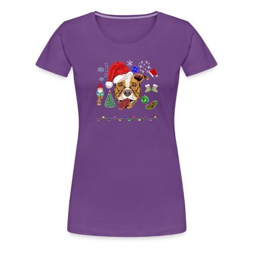 Merry Pitmas - Dame premium T-shirt