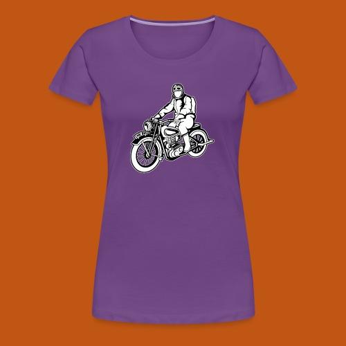 Chopper / Motorrad 04_schwarz weiß - Frauen Premium T-Shirt