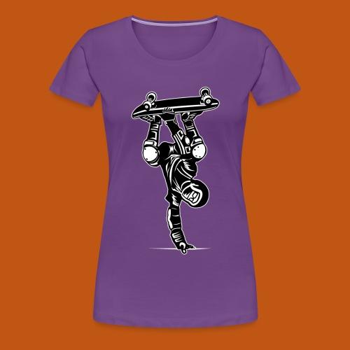 Skater / Skateboarder 02_schwarz weiß - Frauen Premium T-Shirt