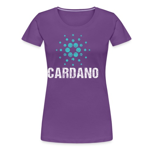 Cardano Ada Logo Cryptos Vintage - Frauen Premium T-Shirt