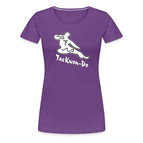 Taekwondo flying kicking man - Women's Premium T-Shirt