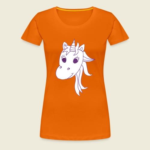 Einhorn Unicorna einfarbig weiß lila - Frauen Premium T-Shirt