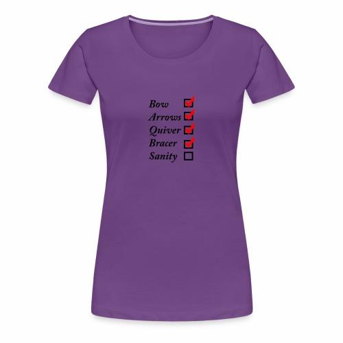 Archery Checklist - Women's Premium T-Shirt