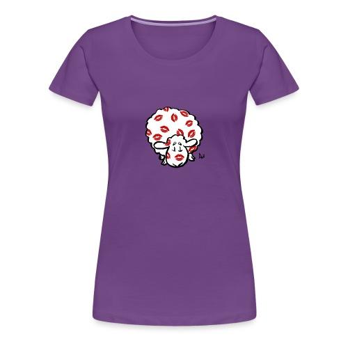 Kiss Ewe - Premium-T-shirt dam