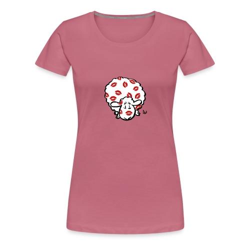 Kuss Mutterschaf - Frauen Premium T-Shirt