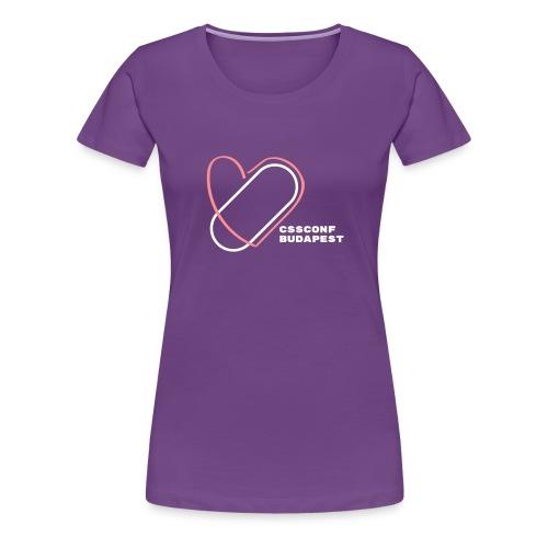 CSSConf Budapest - Women's Premium T-Shirt