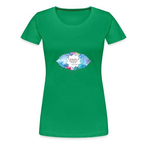Citation d'Albert Einstein - T-shirt Premium Femme