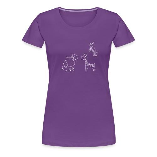 Ein Nilpferd muss aufs WC - Frauen Premium T-Shirt