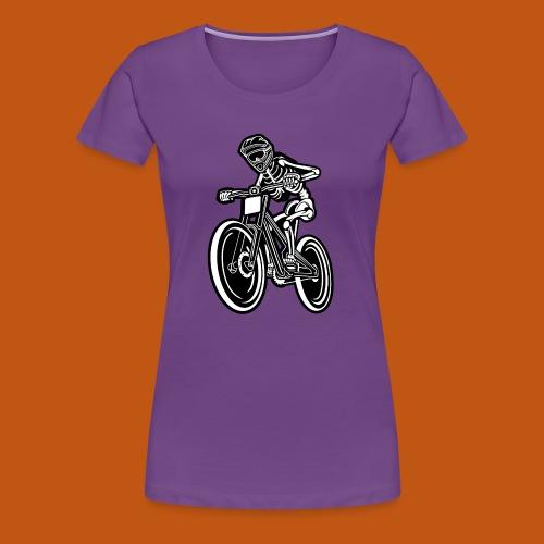 BMX / Mountain Biker 04_schwarz weiß - Frauen Premium T-Shirt