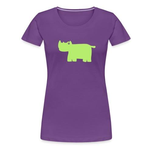 Nashorn - Frauen Premium T-Shirt