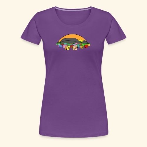 Cape Town Township Background - Frauen Premium T-Shirt