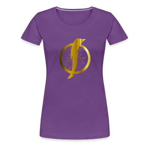 Static Shock Logo - Women's Premium T-Shirt