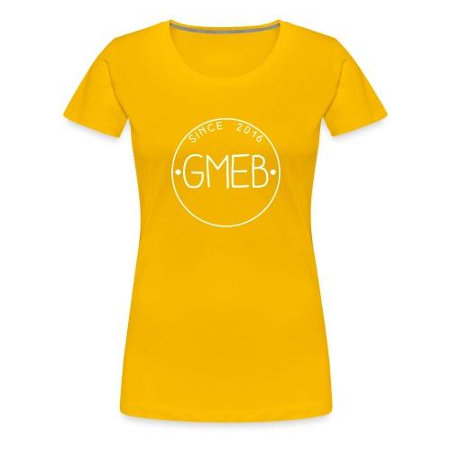doorschijnend LOGO WIT - Vrouwen Premium T-shirt