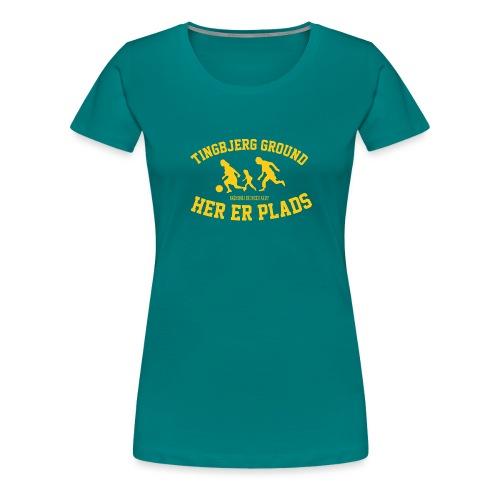 Tingbjerg Ground - her er plads - Dame premium T-shirt