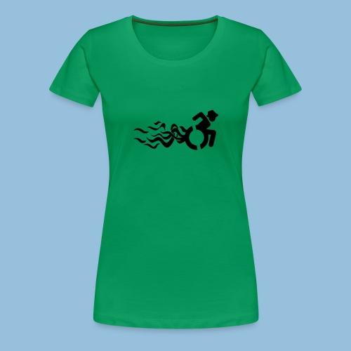Wheelchair with flames 013 - Vrouwen Premium T-shirt
